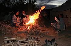 Les Nomades et Berbères en hiver
